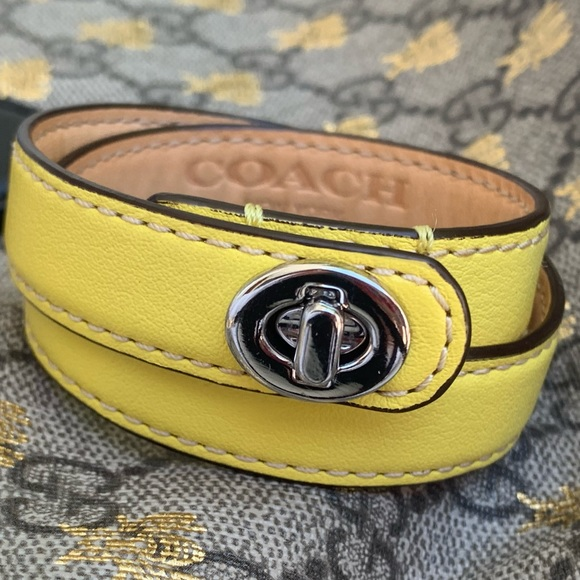Coach Double Wrap Bracelet with Turn Lock